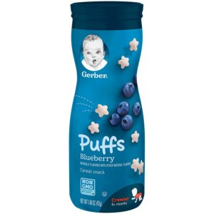 Gerber Graduates Puffs Cereal Snack Blueberry - 42gm-0