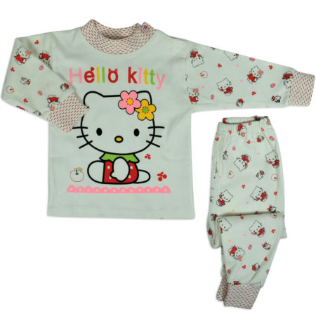 Hello Kitty Full Sleeve Night Suite - White-0