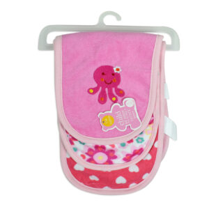 Carters Cotton Burp Cloth Pack Of 3 - Pink-0