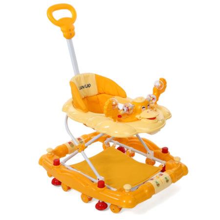 LuvLap Comfy Baby Walker Cum Rocker (18230) - Yellow-0
