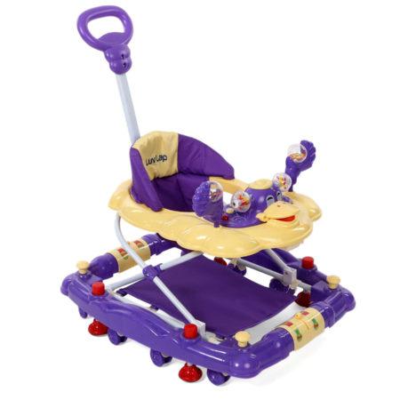 LuvLap Comfy Baby Walker Cum Rocker (18232) - Purple-0