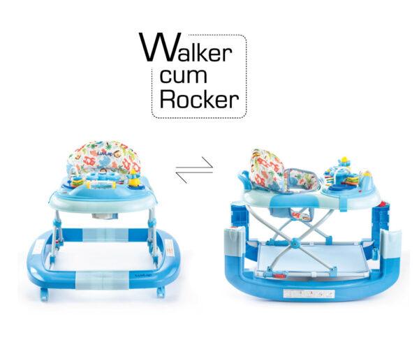 LuvLap Grand Baby Walker Cum Rocker (18297) - Blue-14635