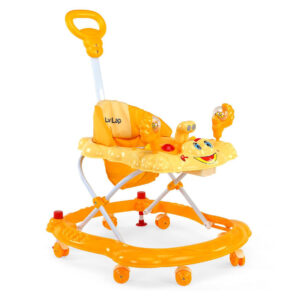 LuvLap Sunshine Musical Baby Walker (18128) - Yellow-0