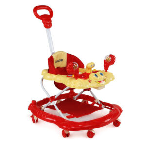 LuvLap Sunshine Musical Baby Walker (18241) - Red-0