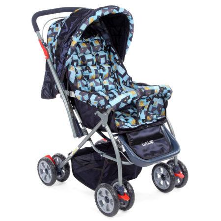 LuvLap Starshine Baby Stroller cum Pram (18218) - Blue-0