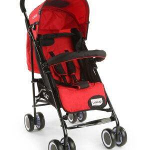 LuvLap City Baby Stroller Buggy (18280) - Red-0