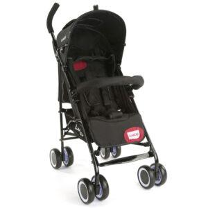 LuvLap City Baby Buggy Cum Stroller (18277) - Black-0