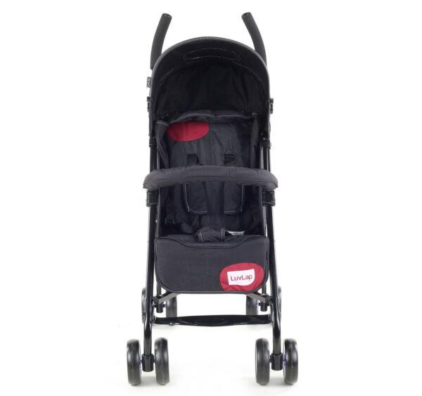 LuvLap City Baby Buggy Cum Stroller (18277) - Black-14964