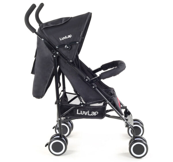 LuvLap City Baby Buggy Cum Stroller (18277) - Black-14968