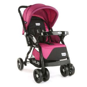 LuvLap Galaxy Baby Stroller (18259) - Pink & Black-0