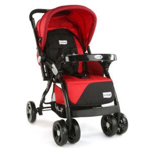 LuvLap Galaxy Baby Stroller (18258) - Red & Black-0