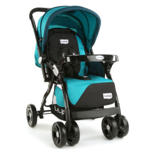 LuvLap Galaxy Baby Stroller (18260) - Aqua & Black-0