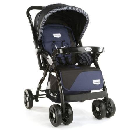 LuvLap Galaxy Baby Stroller (18257) - Black/Blue-0