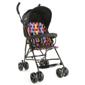 LuvLap Tutti Frutti Baby Stroller Buggy (18276) - Black-0