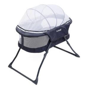 LuvLap Starshine Bassinet With Mosquito Net - Grey-0