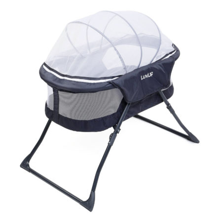 LuvLap Starshine Bassinet With Mosquito Net - Grey-0
