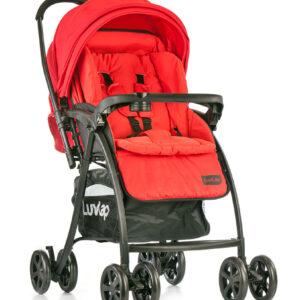 LuvLap Grand Baby Stroller (18318) - Red-0