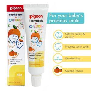 Pigeon Children Toothpaste (Orange) 45g-0