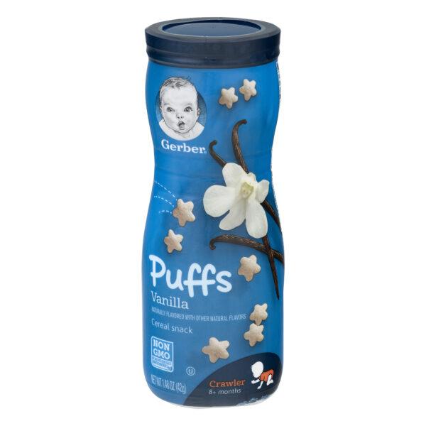 Gerber Puffs Cereal Snack Vanilla (8M+) - 42 gm NON GMO-0