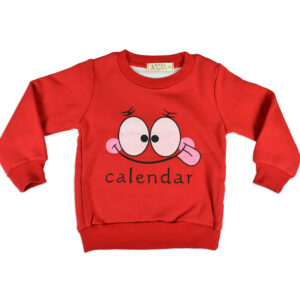 Smiley Print Full Sleeve Infant Sweat Shirt - Red-0