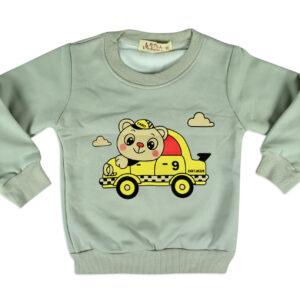 Car Print Full Sleeve Infant Sweat Shirt - Grey-0