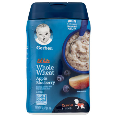 Gerber Lil' Bits Whole Wheat Apple Blueberry Baby Cereal - 227 gm-0