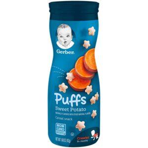 Gerber Graduates Sweet Potato Puffs Cereal Snack - 42gm-0