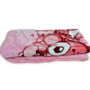 Very Soft Baby Blanket (Pooh Print) - Pink-0