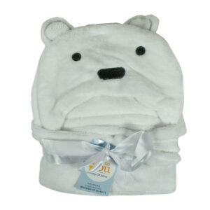 Baby Soft Hooded Blanket - White-0