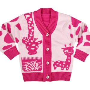 Full Sleeve Front Open Sweater - Pink-0
