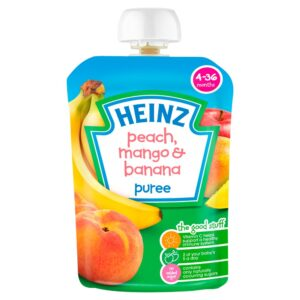 Heinz Peach, Mango and Banana puree - 4-36M-0