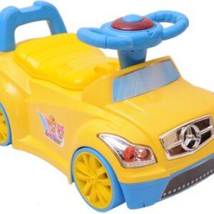 A+B 2 in 1 Closestool Potty Seat Cum Ride On Car - Yellow-0