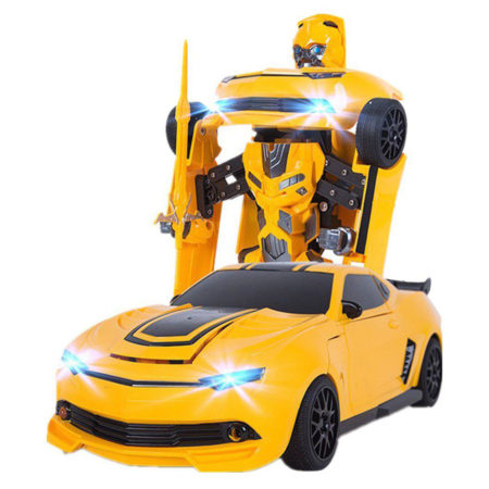 Transformers Autobots Deformation Remote Control Car 1:14 Simulated Car Toy - Yellow-0