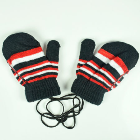 Knitted Woolen Hand Gloves, Mittens - Black-0