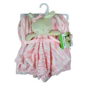 Carters Fleecy Soft Blanket With Detachable Toy - Pink-0