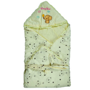 Baby Quilted Wrapper - Yellow-0