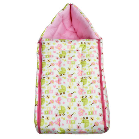 Babysworld Sleeping Bag ABC Print - Magenta-0