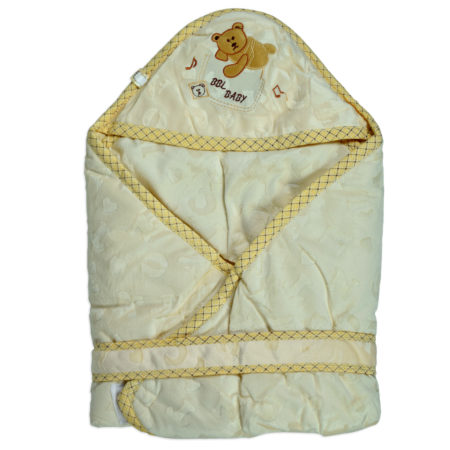 Baby Quilted Wrapper (Knot Style) - Yellow-0