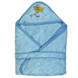Baby Quilted Wrapper (Knot Style) - Blue-0