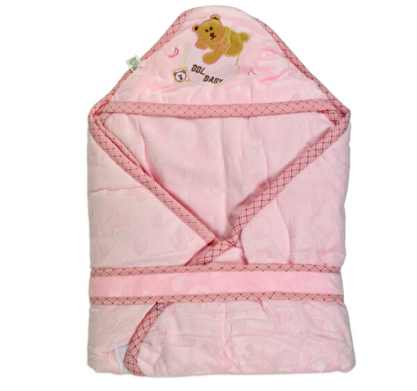 Baby Quilted Wrapper (Knot Style) - Pink-0