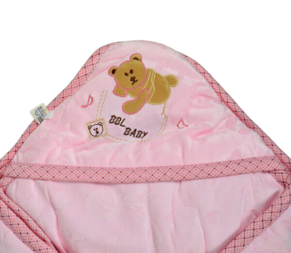 Baby Quilted Wrapper (Knot Style) - Pink-16859