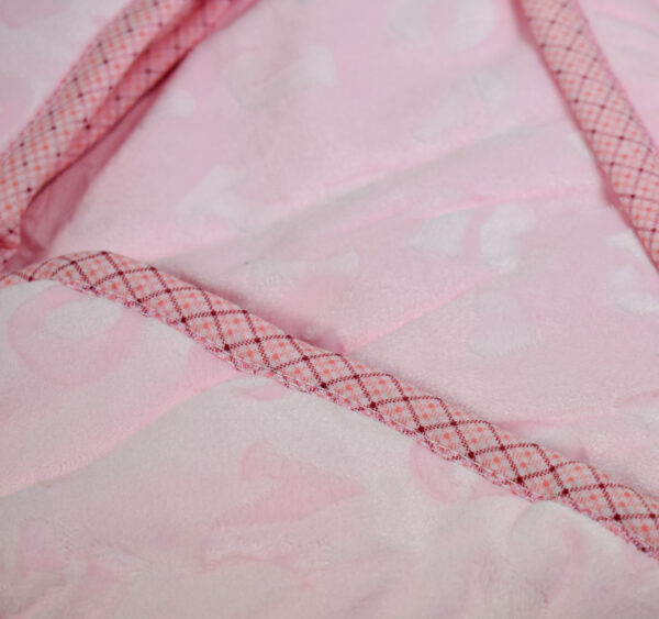 Baby Quilted Wrapper (Knot Style) - Pink-16861