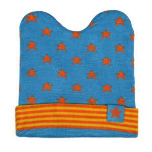 Baby Woolen Winter Cap (Star Print) - Sky Blue-0