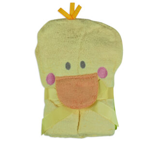 Baby Hooded Towel (Duck Character) - Yellow-0