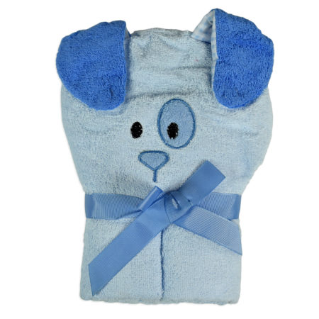 Baby Hooded Towel (Dog Character) - Sky Blue-0