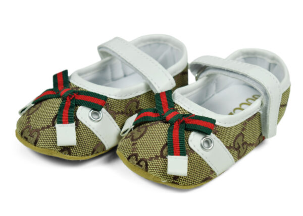 Belly Style Baby Booties - Green/White-0