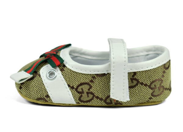 Belly Style Baby Booties - Green/White-17034