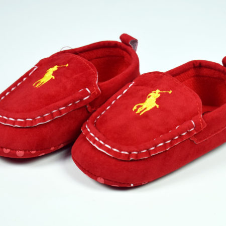 Baby Loafer Style Soft Shoes - Red-0