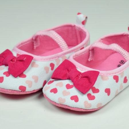 Baby Belly Style Soft Booties - Pink-0