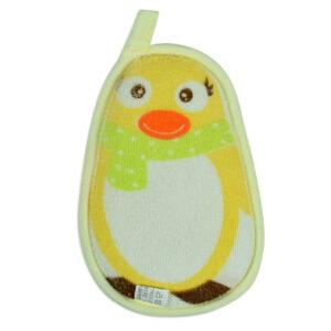 Baby Bath Sponge - Penguin Print-0